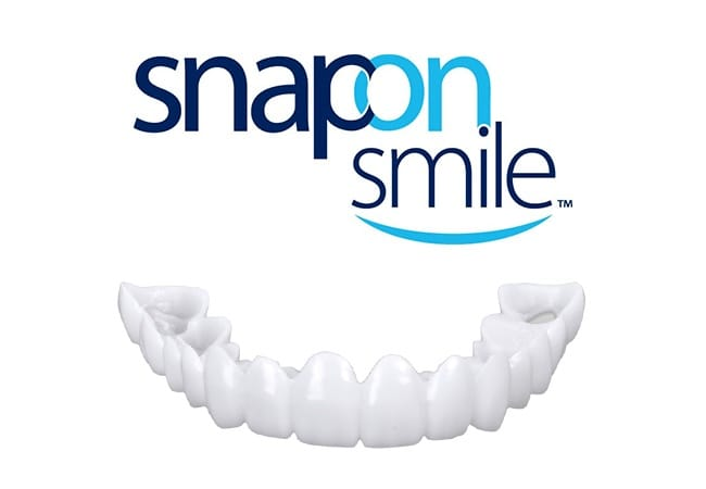 Snap on smile logo with sample snap on smile restoration